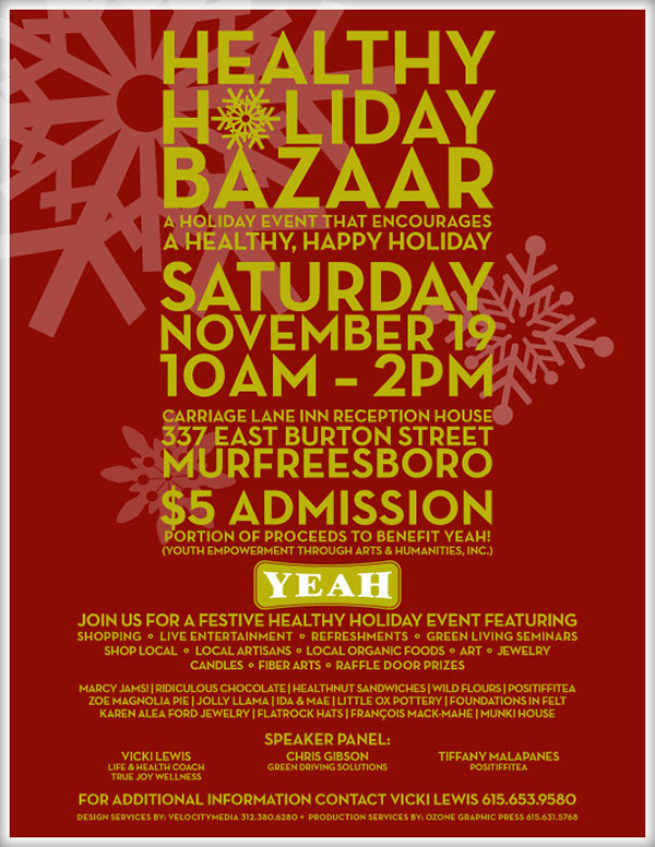 healthy holiday bazaar flyer on behance