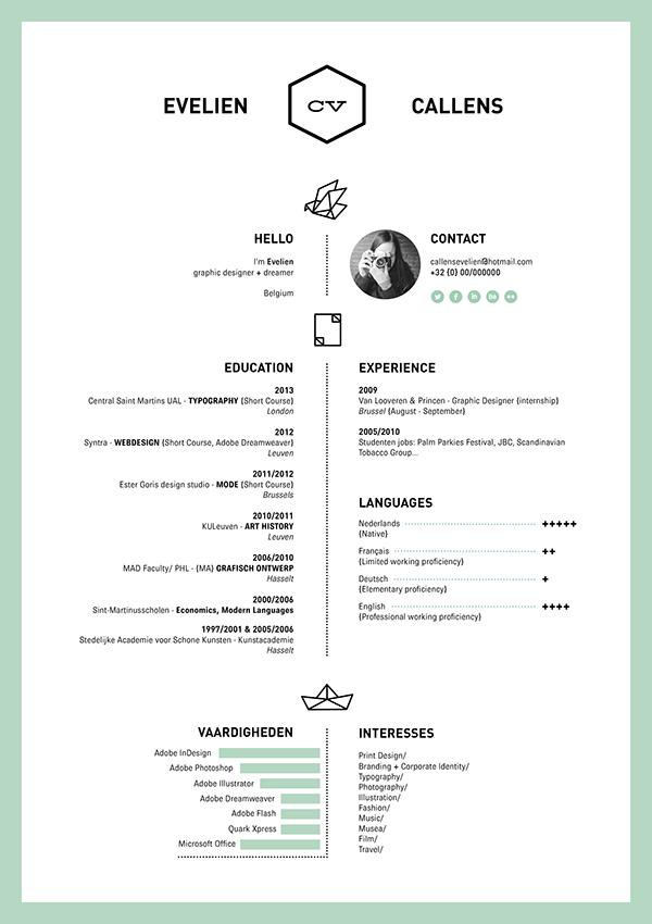 Resume Curriculum Vitae design