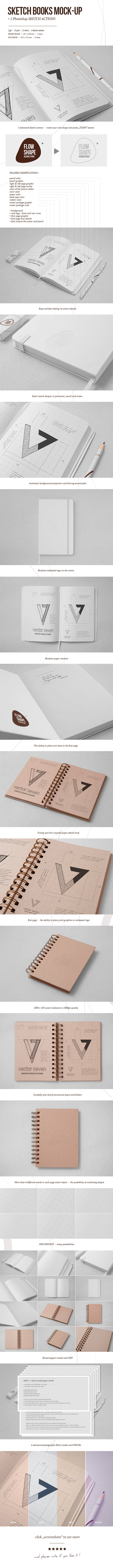 Sketchbook Mock-up & Sketch Actions on Behance