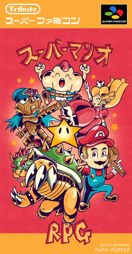 super mario rpg tribute on behance