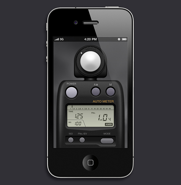 Light Meter App GUI Design On Behance