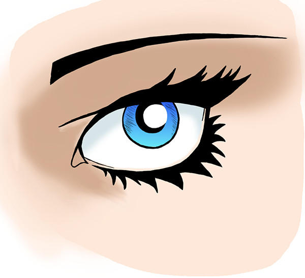 Comic Style Female Eye