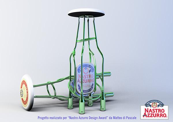 Nastro Azzurro 3d modeling bottle award Rhinoceros 3D beer winner
