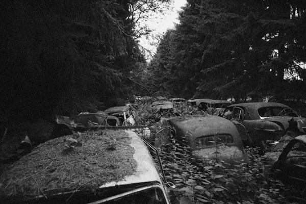 Urban urbex UE lost forgotten decay abandoned car graveyard foantje model Sony Alpha 900