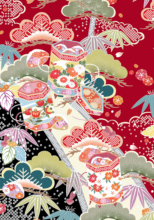 Flower Pattern Of Japan On Behance