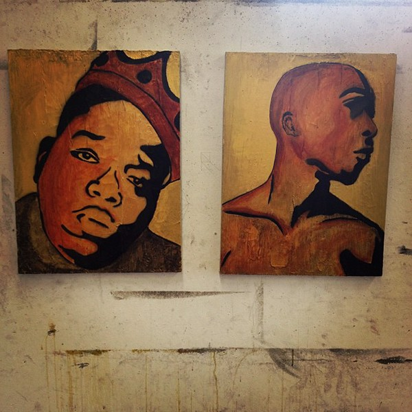 Biggie and Tupac Paintings. on RISD Portfolios Tupac And Biggie Painting