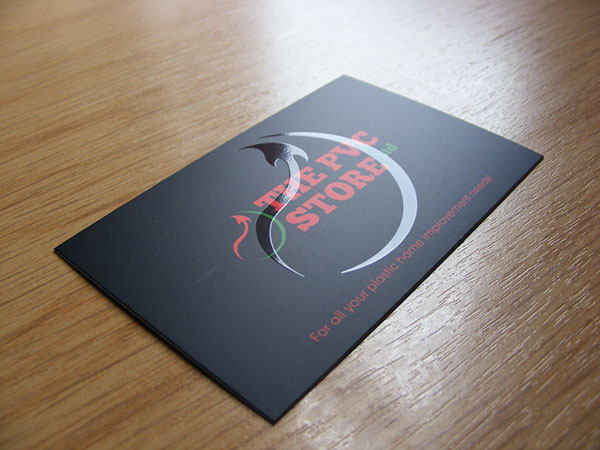 The PVC Store Logo Design Spot Varnish Business Card On Behance