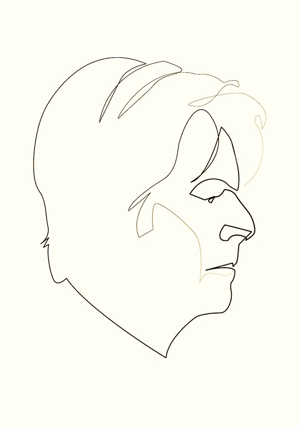 Line Drawing Photos : David bowie line drawing