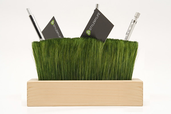 Pencil holder bristles wood Nature green desk givingshape BBMDS pratonzolo max battaglia