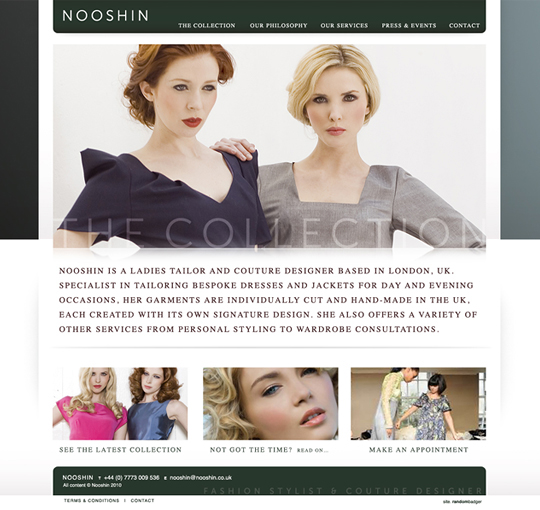 Website couture idenity