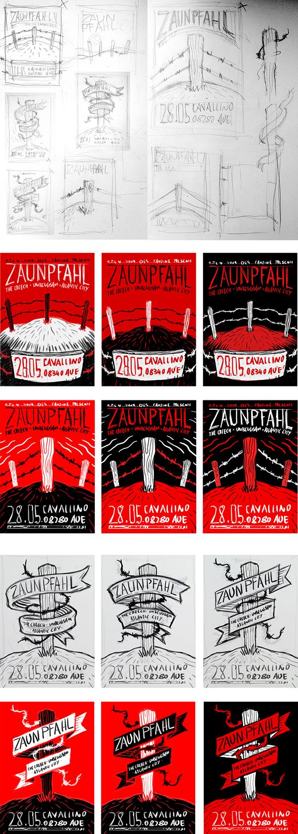 Zaunpfahl Concert Poster On Student Show