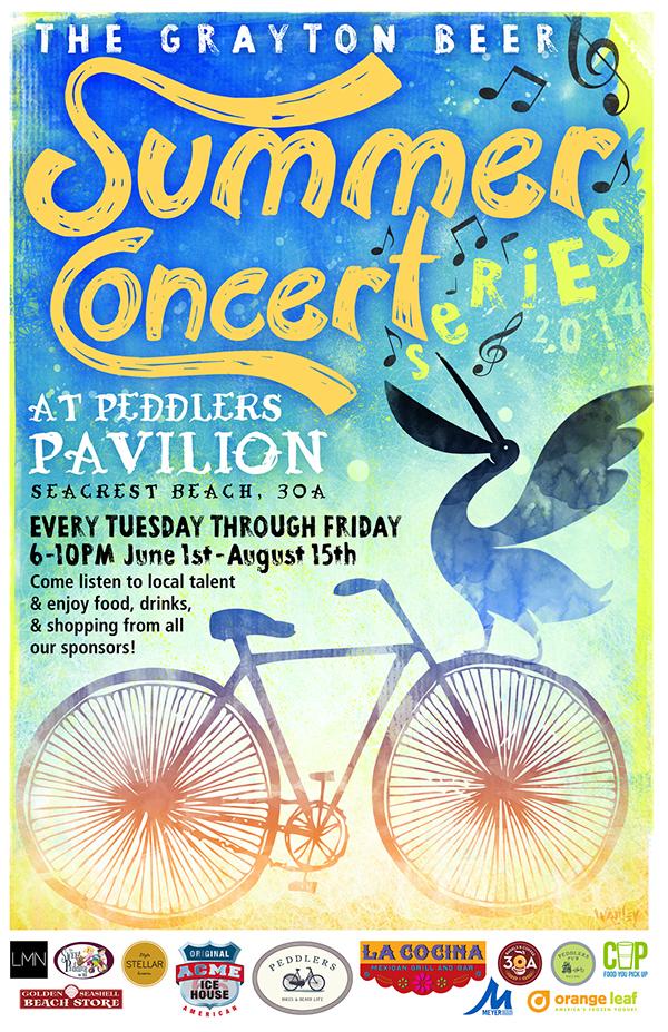 The Grayton Beer Summer Concert Series Poster On Behance