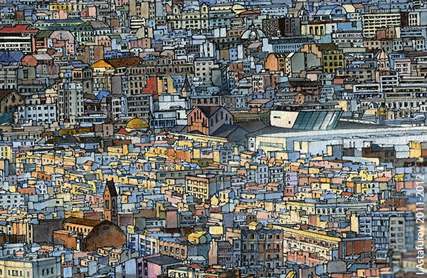 barcelona paper graphics art detail