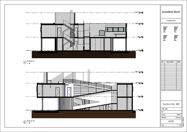 Revit Cross Sections  Villa Savoye by Le CorbusierVilla Savoye Section