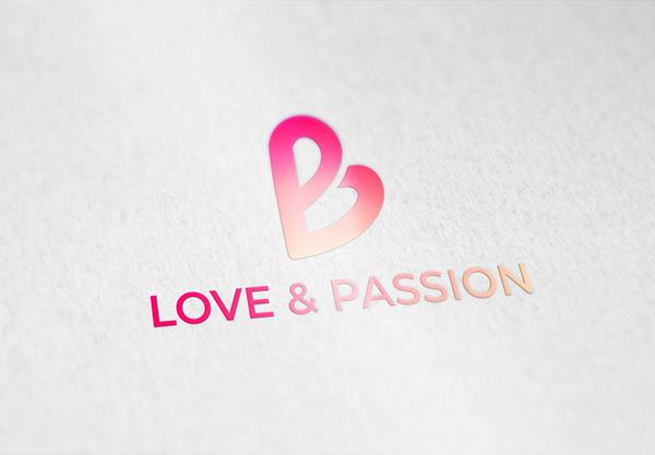 Love & Passion Logo   LP letter logo   Love logo