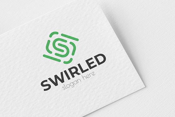 Swirled S Letter Logo