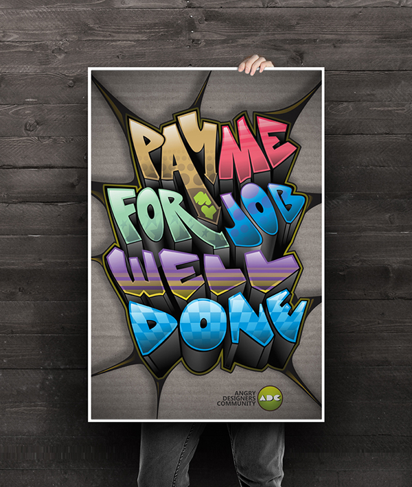 Graffiti color cardboard Web Pay designer t-shirt poster bubadesign creative school