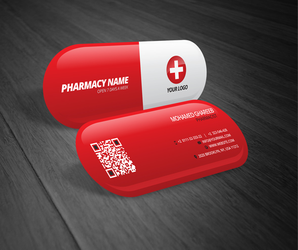 creative pharmacist business card on behance