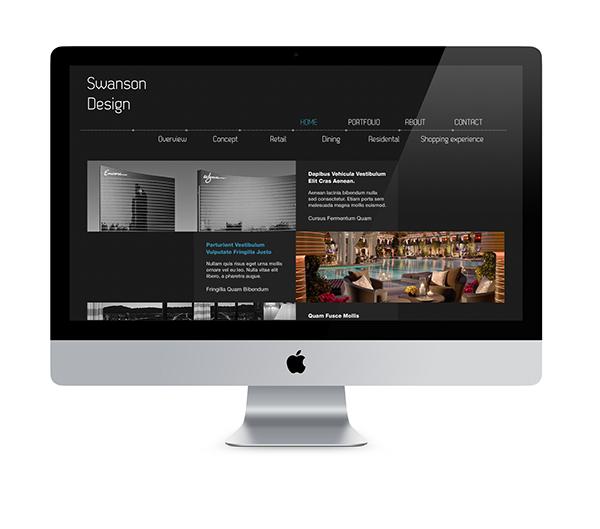 swanson  design  architect erdis driza falt design flat ui UI dark Web Webdesign Interface trend modern