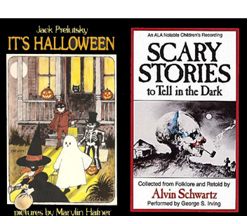 its halloween by jack prelutsky scary stories to tell in the dark by alvin schwartz