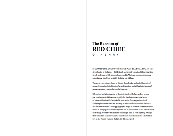 ransom of red cheif personification The ransom of red chief by o henry it looked like a good thing but wait till i tell you we were down south, in alabama – bill driscoll and myself – when this kidnapping idea.