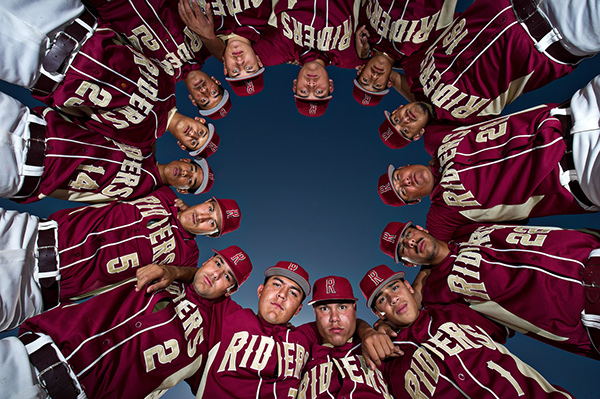 Roosevelt high school baseball portraits on behance for Team picture ideas