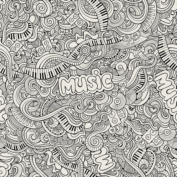 Hand Drawn Doodles Music Illustration On Behance