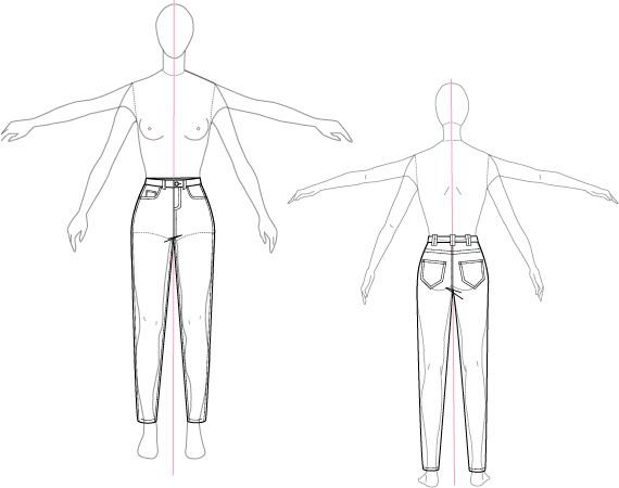 Fashion Illustration Technical Sketch On Saic Portfolios