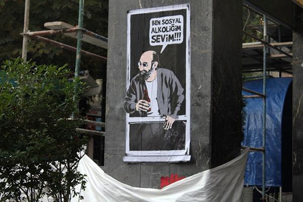 ben sosyal alkoliğim sevim alcohol Street art sokak sanat ankara Turkey türkiye alkol cemil benim adım bizimkiler dizi Character