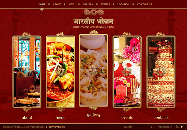 Authentic modern indian restaurant html template on behance