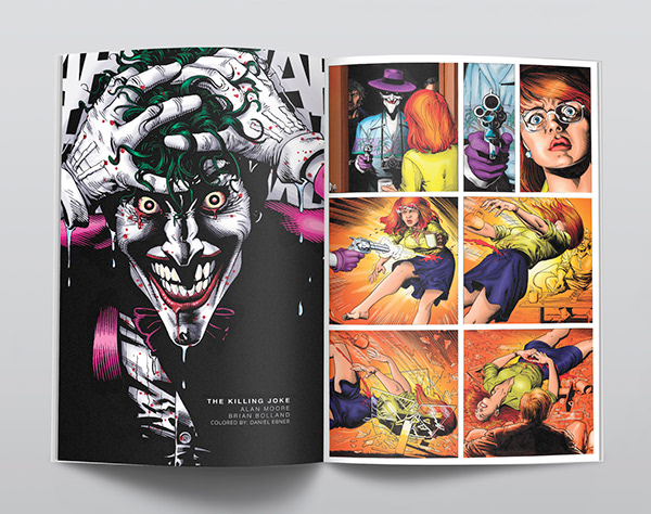 Recolored art from The Killing Joke by Brian Bolland