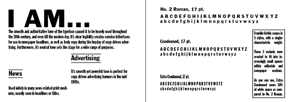 Franklin Gothic: The Font That Made Headlines on SCAD Portfolios