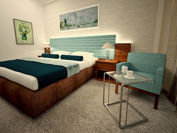 Simple Hotel Room Design on Behance