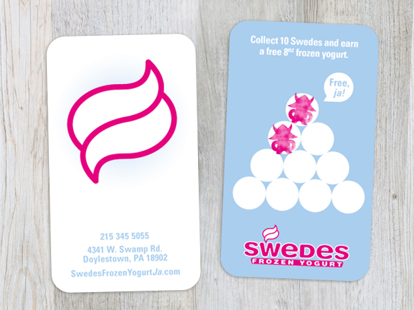 Character Design Business Card : Swedes frozen yogurt on pantone canvas gallery