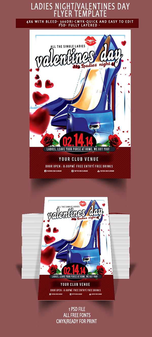 Free Valentines Day Flyer Psd On Behance