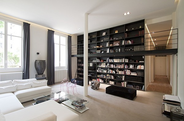 apartment in paris by feld architecture on behance. Black Bedroom Furniture Sets. Home Design Ideas