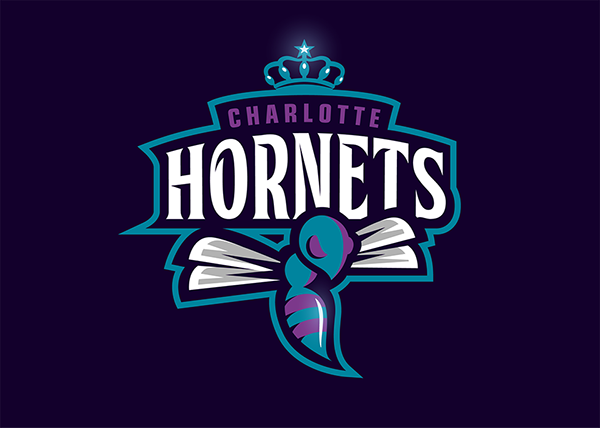 CHARLOTTE HORNETS RE-LOGO on Behance