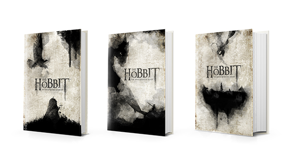 Book Cover Watercolor Painting ~ The hobbit watercolor book cover on behance