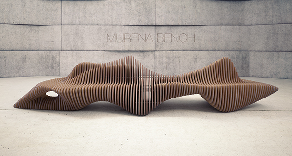 Murena bench on behance for Furniture x connection