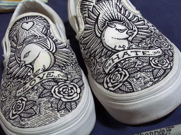 shoe drawings on pantone canvas gallery