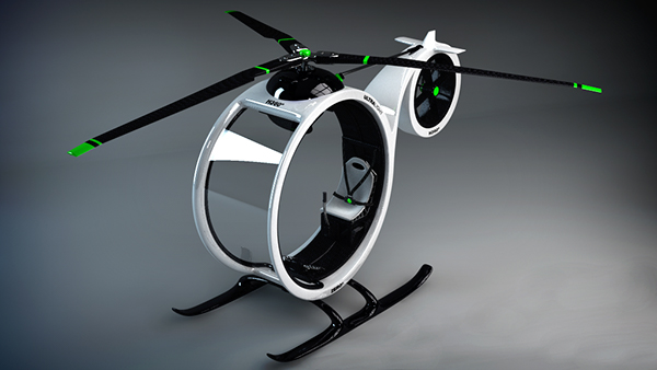 helicopter concept zero 3D helicoptero