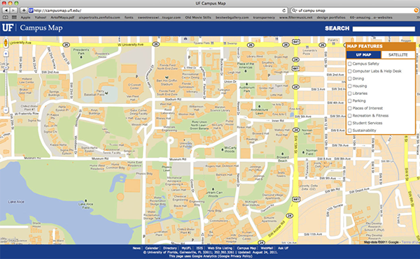 map of uf campus University Of Florida Campus Map On Behance map of uf campus