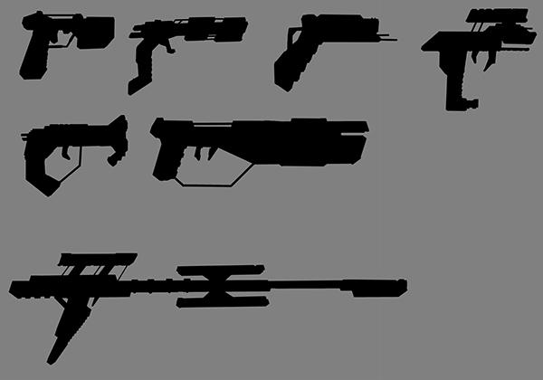 digital painting gun design guns concept art Games