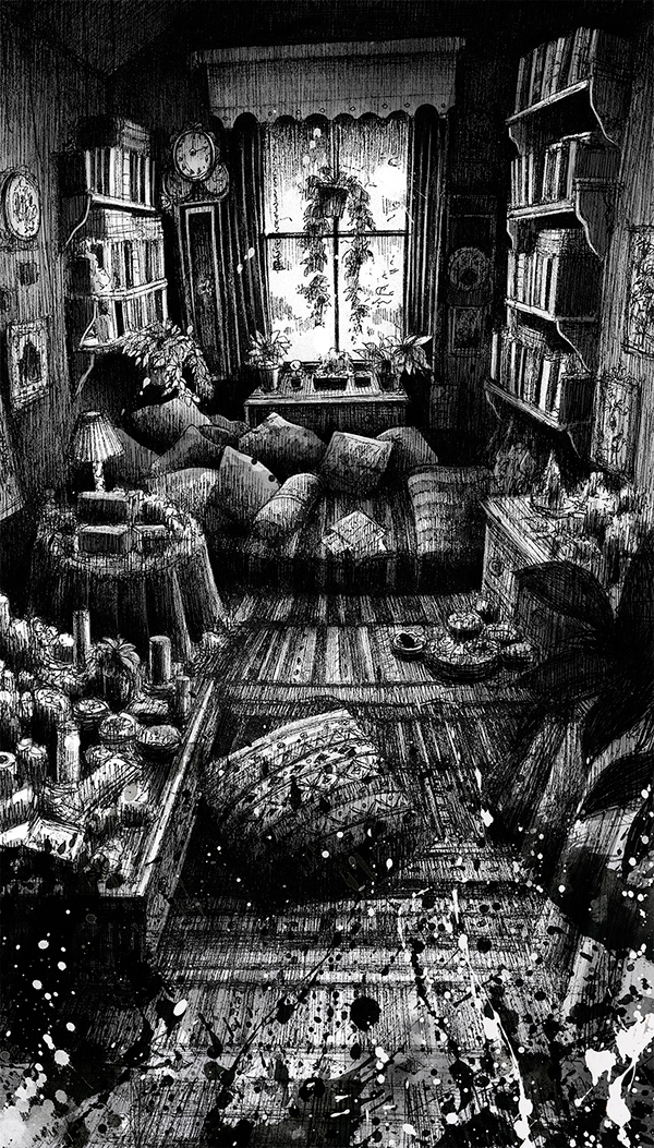 Mansion Drawing: Haunted Houses On SCAD Portfolios