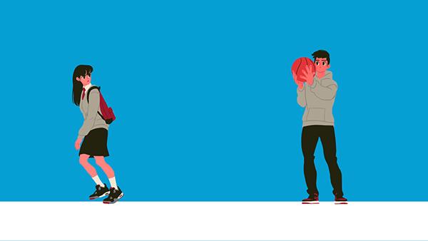 gif Gif Illustration gif animation loop loop animation girl boy asian teen korean teenager loop illust illust Exhibition
