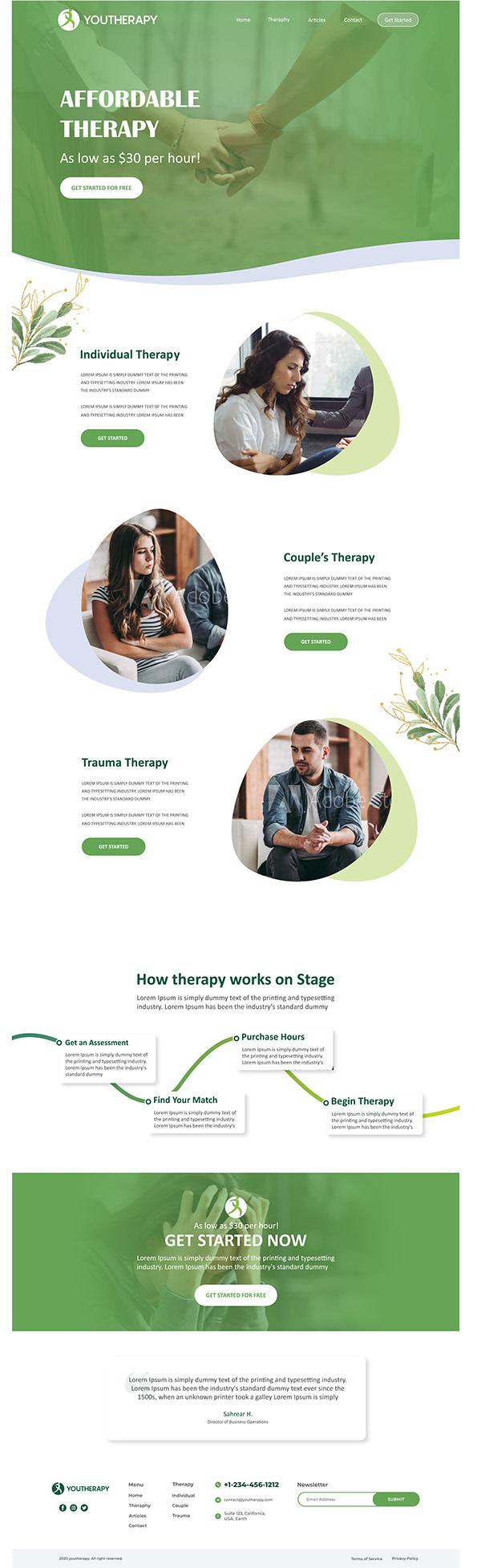 Therapy Web Design
