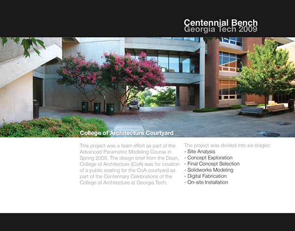 Centennial bench on industrial design served for Kar design apartments