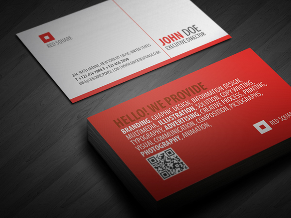 Red Square quick response business card on Behance