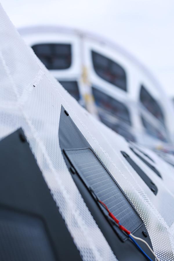 Volvo solar power photovoltaic Portable Pavilion minimal surfaces Sustainable