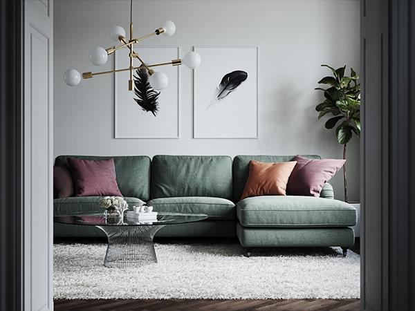 有設計感的20張客廳主牆顏色欣賞